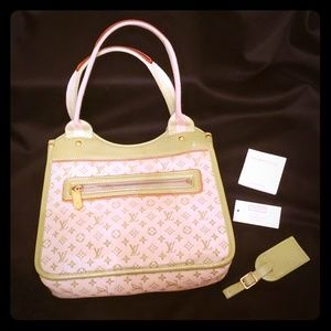 Authentic Mary Kate Louis Vuitton LV Green tote